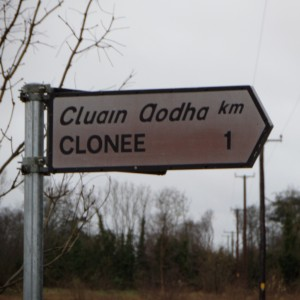 A sign at last